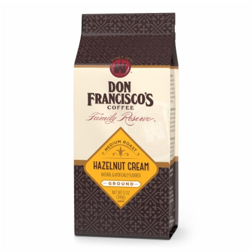 Don Francisco's Coffee Family Reserve Hazelnut Cream Ground Coffee Perspective: front