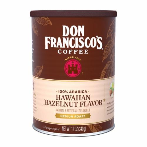 Don Francisco's Coffee Hawaiian Hazelnut Flavor Medium Roast Ground Coffee Perspective: front