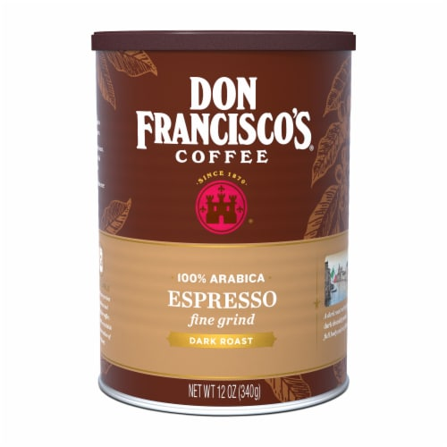 Don Francisco's Coffee Finely Ground Espresso Dark Roast Perspective: front