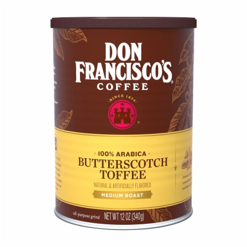 Don Francisco's Butterscotch Toffee Medium Roast Coffee Perspective: front
