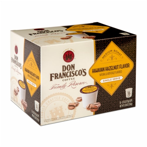 Don Francisco's Coffee Hawaiian Hazelnut Flavor Single Serve Cups 36 Count Perspective: front