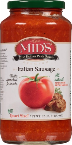 Mid's Italian Sausage Pasta Sauce Perspective: front