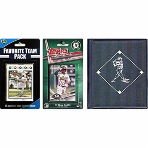 C & I Collectables 2017ASTSC MLB Oakland Athletics Licensed 2017 Topps Team Set & Favorite Pl Perspective: front