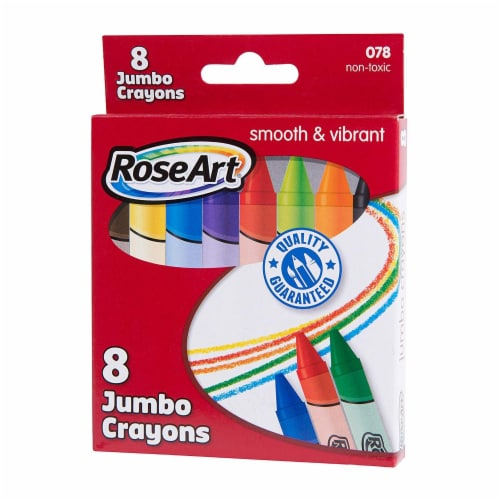 Rose Art Smooth And Vibrant 8 Count Jumbo Crayons Perspective: front
