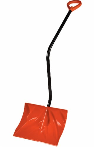 Bigfoot™ Lifesaver Dozer Snow Shovel with D-Grip Handle - Orange Perspective: front