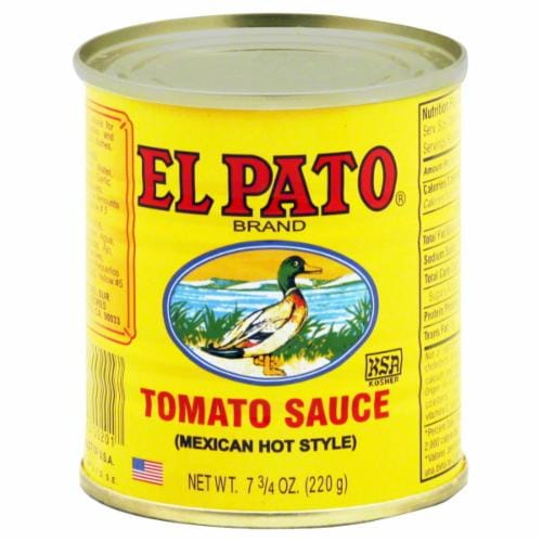 El Pato Hot Style Tomato Sauce Perspective: front