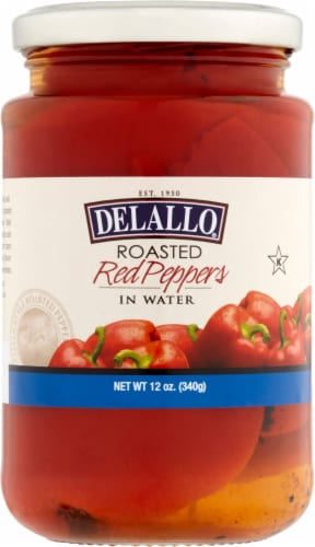 Delallo Roasted Red Peppers Perspective: front