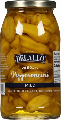 DeLallo Mild Pepperoncinis Perspective: front