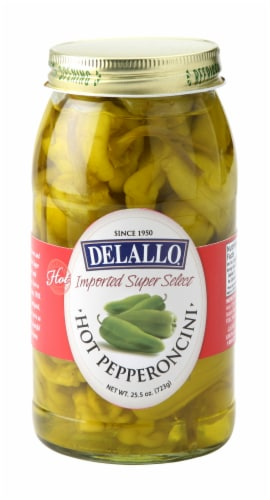 DeLallo Hot Pepperoncini Perspective: front