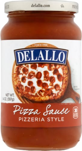DeLallo Pizzeria Style Pizza Sauce Perspective: front