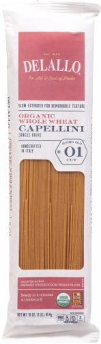 Delallo Organic Whole Wheat Capellini Pasta No 01 Perspective: front