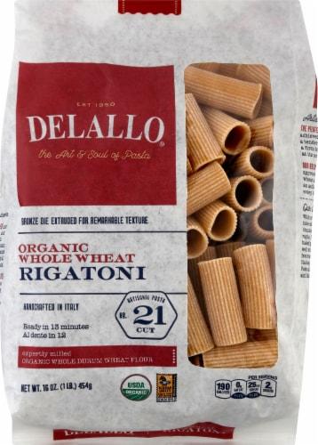 DeLallo Organic Whole Wheat Rigatoni No 21 Perspective: front
