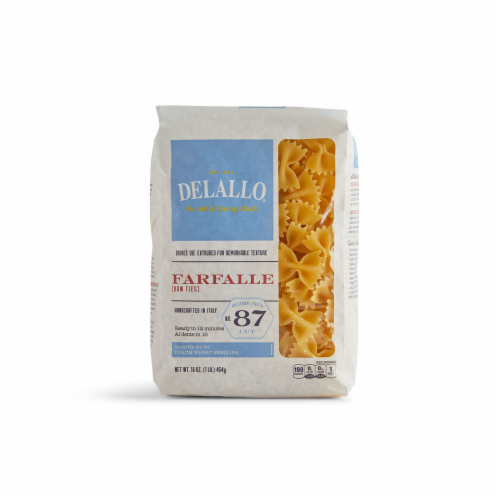 DeLallo Organic Whole Wheat Farfalle Pasta Perspective: front