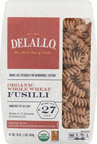 Delallo Organic Whole Wheat Fusilli No 27 Perspective: front