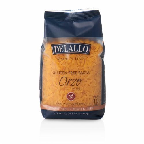 DeLallo Orzo Gluten Free Pasta Perspective: front