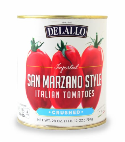 DeLallo San Marzano Style Crushed Italian Tomatoes Perspective: front