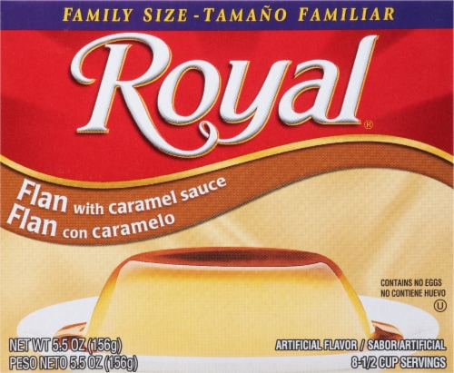 Royal Flan with Caramel Sauce Family Size Perspective: front