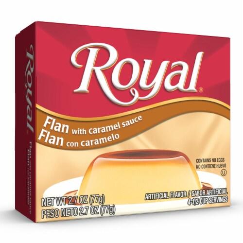 Royal Flan Caramel Custard Perspective: front