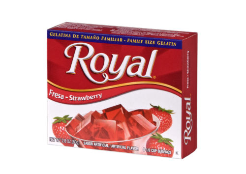 Royal Strawberry Gelatin Perspective: front