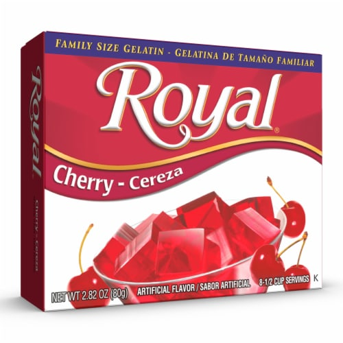 Royal Cherry Gelatin Family Size Perspective: front