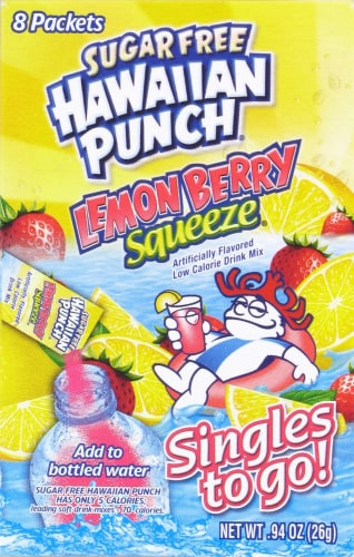 Hawaiian Punch Singles to Go! Lemon Berry Squeeze Mix Perspective: front