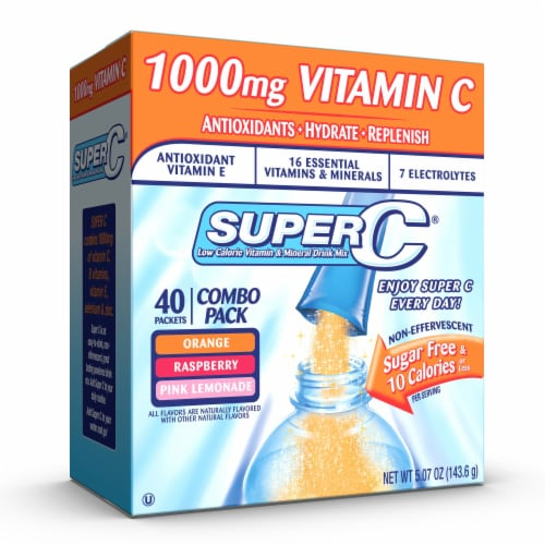 Super C Singles to Go Drink Mix Variety Pack Perspective: front