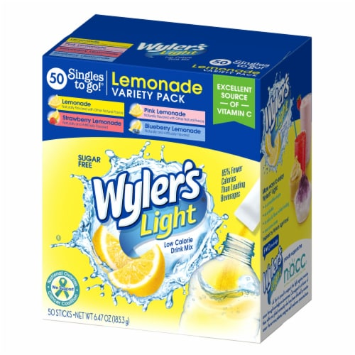 Wyler's Light Singles Drink Mix To Go Variety Pack Perspective: front