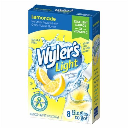 Wyler's Singles to Go! Drink Mix Light Lemonade Perspective: front