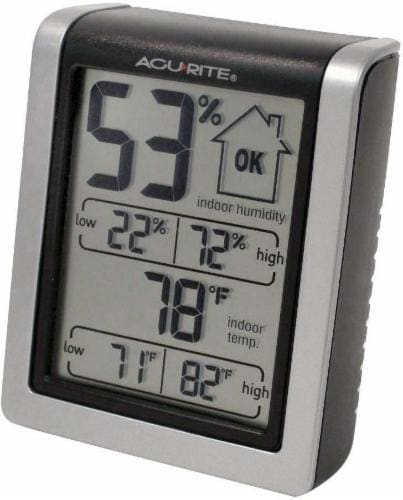 AcuRite Digital Humidity and Temperature Monitor Perspective: front