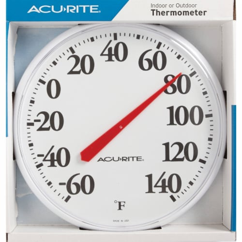 Acu-Rite® 12.5-Inch Indoor or Outdoor Thermometer - White Perspective: front