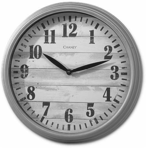 Chaney Chic Lodge Wall Clock - Gray Perspective: front