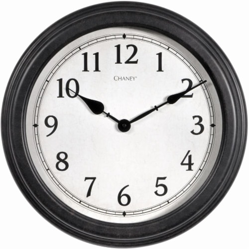 Chaney Everyday Wall Clock - Black Perspective: front