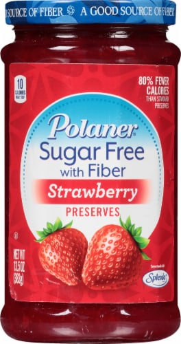 Polaner Sugar Free Strawberry Preserves Perspective: front