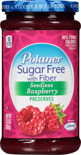 Polaner Sugar Free Seedless Raspberry Preserves Perspective: front