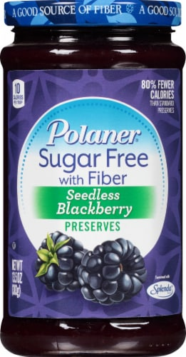 Polaner Sugar Free Seedless Blackberry Preservative Perspective: front