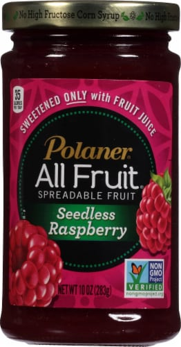 Polaner All Fruit Seedless Raspberry Fruit Spread Perspective: front