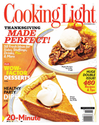 Cooking Light Magazine Perspective: front