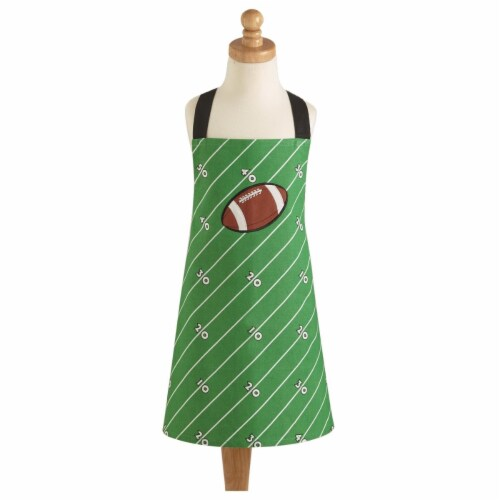 Design Imports CAMZ10179 Football Field Child Apron Perspective: front