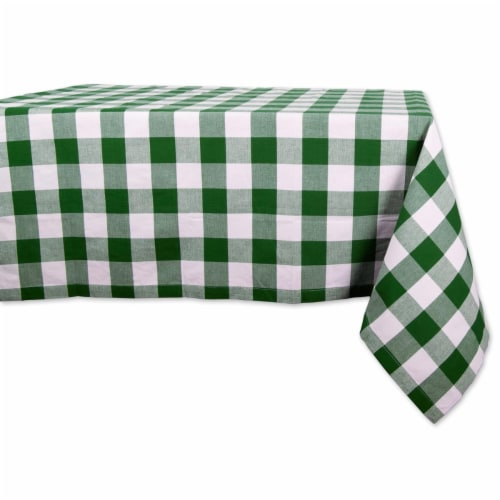 Design Imports CAMZ10540 60 x 84 in. Shamrock Green Buffalo Check Tablecloth Perspective: front