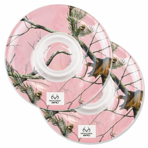 Design Imports CRT10614 Realtree APC Pink Chips & Dip Platter - Set of 2 Perspective: front