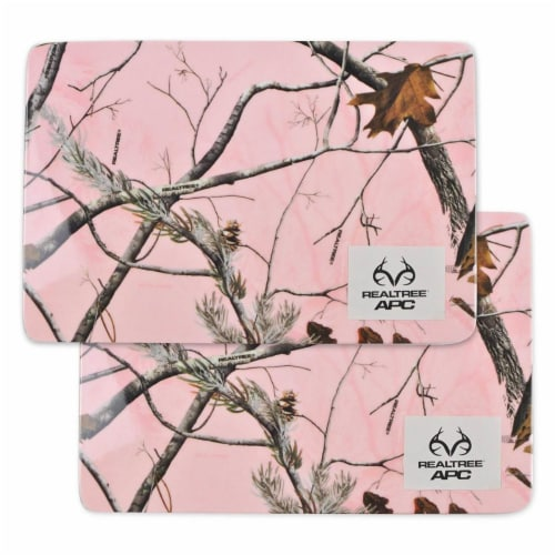 Design Imports CRT10617 RT APC Pink Melamine Trivet - Set of 2 Perspective: front