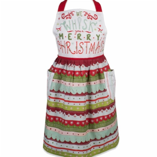 Design Imports Whisk Merry Christmas Skirt Apron Perspective: front