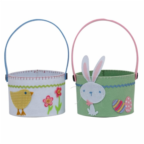 Design Imports Chick & Bunny Baskets - Set of 4 Perspective: front