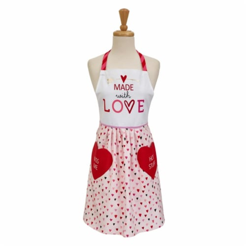 Design Imports Made with Love Print Skirt Apron Perspective: front