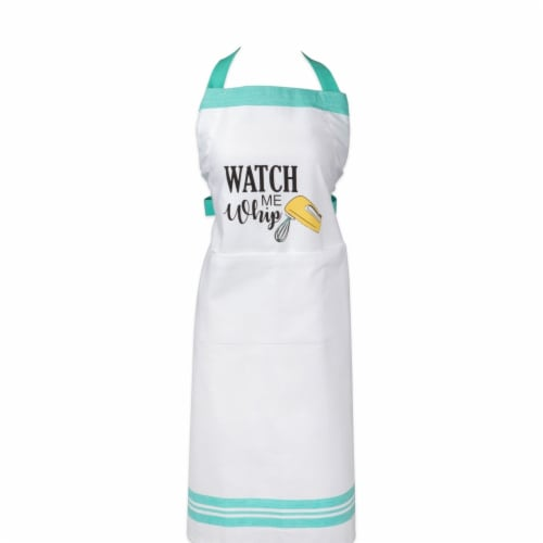 Design Imports Watch Me Whip Print Apron Perspective: front