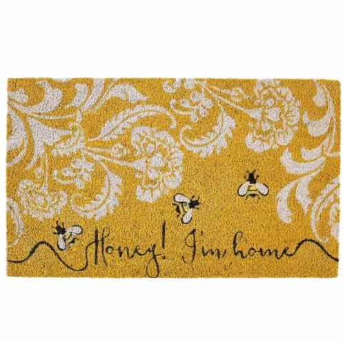 Design Imports CAMZ11541 18 x 30 in. Honey I-M Home Doormat Perspective: front