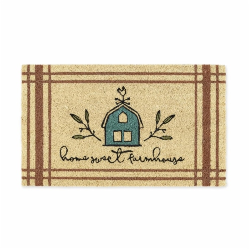 DII Home Sweet Farmhouse Doormat Perspective: front