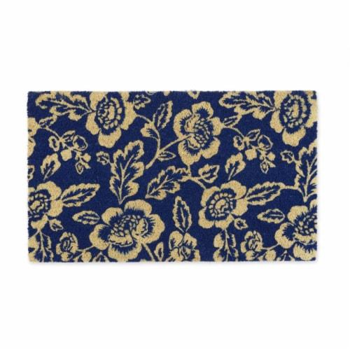 DII Blue Peonies Doormat Perspective: front