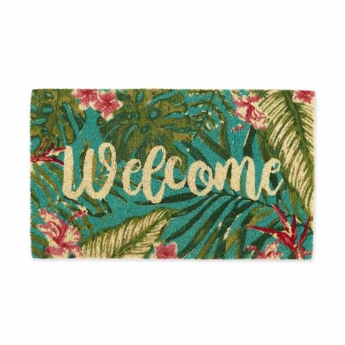 DII Tropical Welcome Doormat Perspective: front