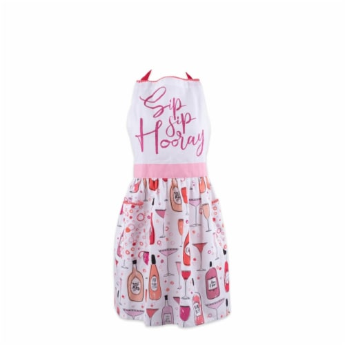 Design Imports Sip Sip Hooray Print Apron Perspective: front